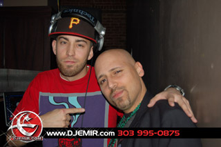DJ Sounds Supreme and DJ Emir Mardi Gras Party Pic Martini Ranch