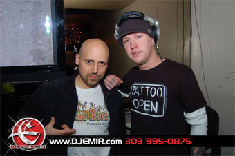 DJ Emir and DJ Mada at Shag Lounge Hipsters Party Denver CO