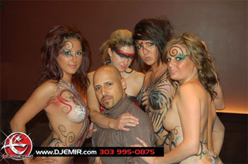 Theorie Nightclub Gemini Blast party with DJ Emir and Body Paint Models