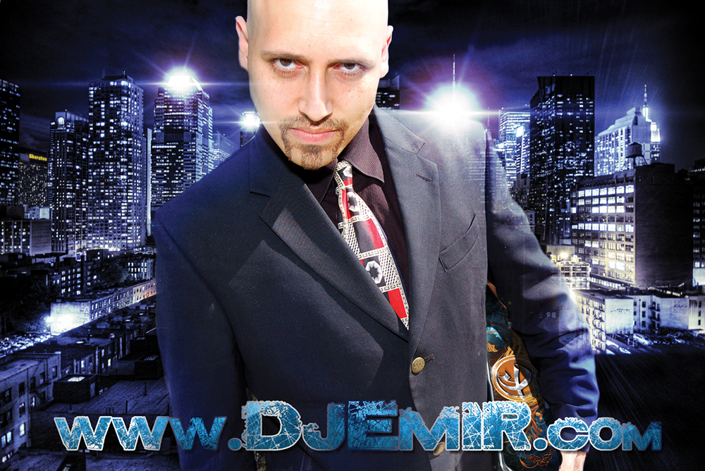 DJ Emir Santana Mixtapes and Designs New York City Blue Skyline