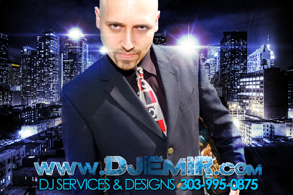 DJ Emir Mixtapes New York City Rooftop Picture in Suit