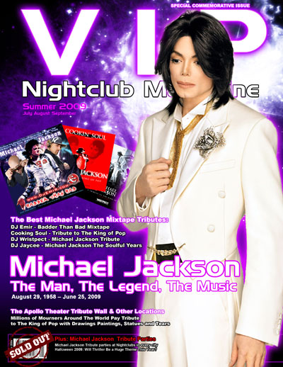 VIP Nightclub Magazine Michael Jackson Issue featuring story on Best Michael Jackson mixtapes