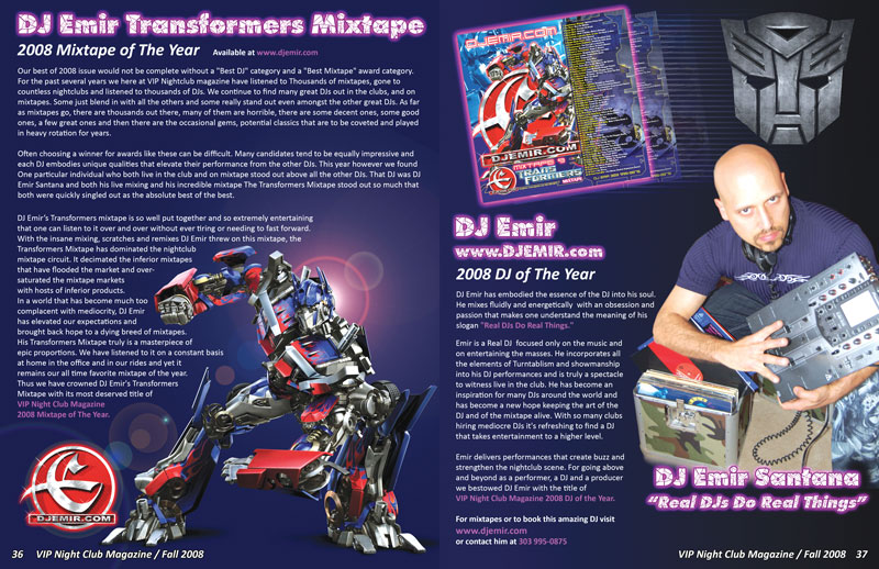 DJ Emir Transformers Mixtape - Mixtape of The Year Article