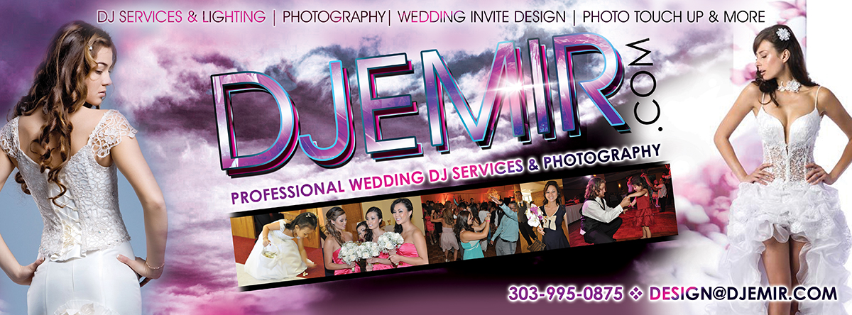 Wedding DJ Services And Photography Denver Colorado Banner Design