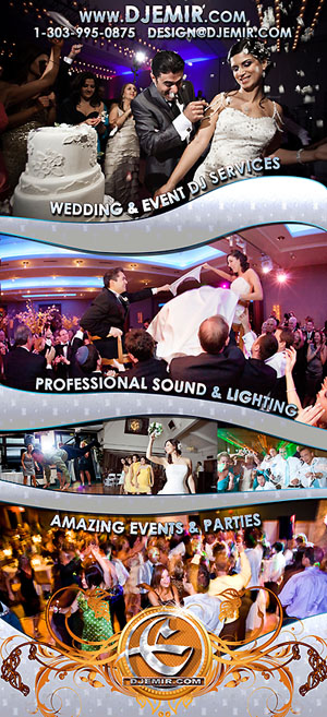 Wedding DJ Flyer Denver Colorado